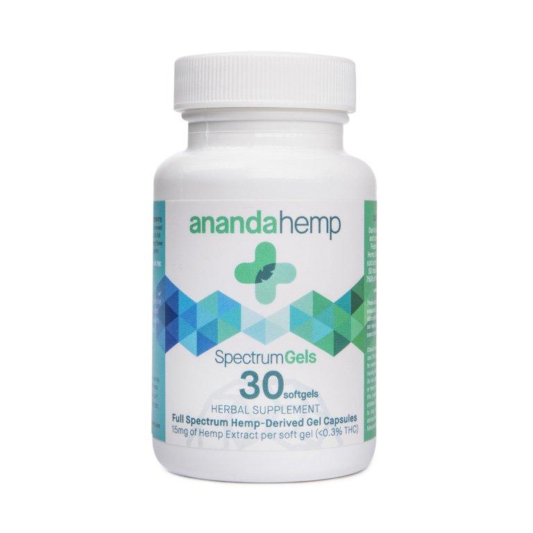 Ananda Hemp full spectrum CBD spectrum gels 30 count