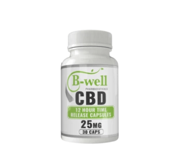 B-Well Pharmaceutical 12hr CBD Time Release Capsules 25mg
