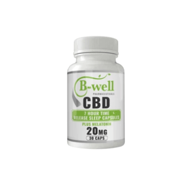B-Well Pharmaceutical 20mg CBD Plus Melatonin Time Release Sleep Capsules