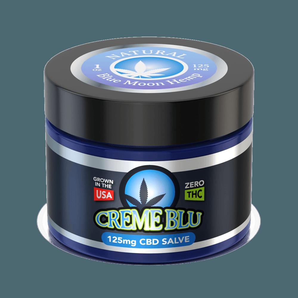 Blue Moon Hemp CBD Salve Creme Blu 1oz Natural