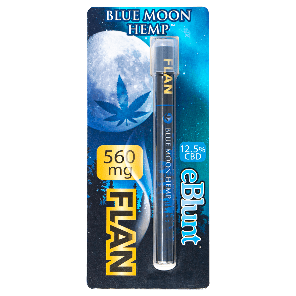 Blue Moon Hemp Flan flavored eBlunt