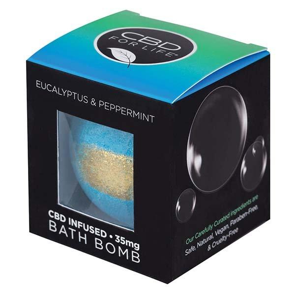 CBD For Life Bath Bomb Eucalyptus & Peppermint