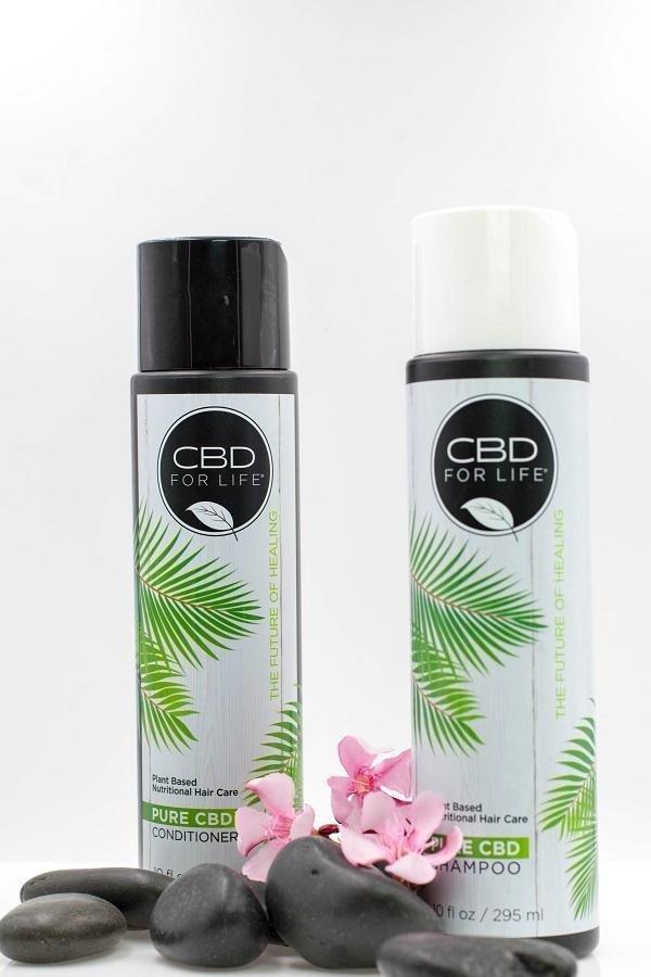 CBD For Life Plant-Based Pure CBD Shampoo and Conditioner