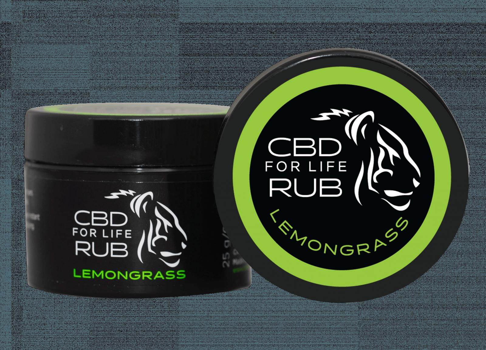 CBD For Life Rub Lemongrass