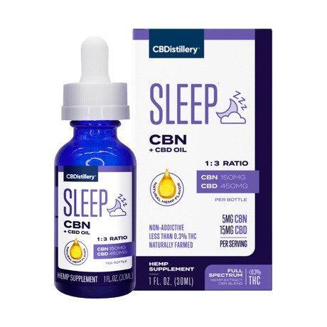 CBDisitillery Sleep CBD and CBN Oil