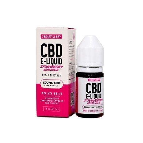 CBDistillery CBD Vape Juice Broad Spectrum Strawberry Lemonade