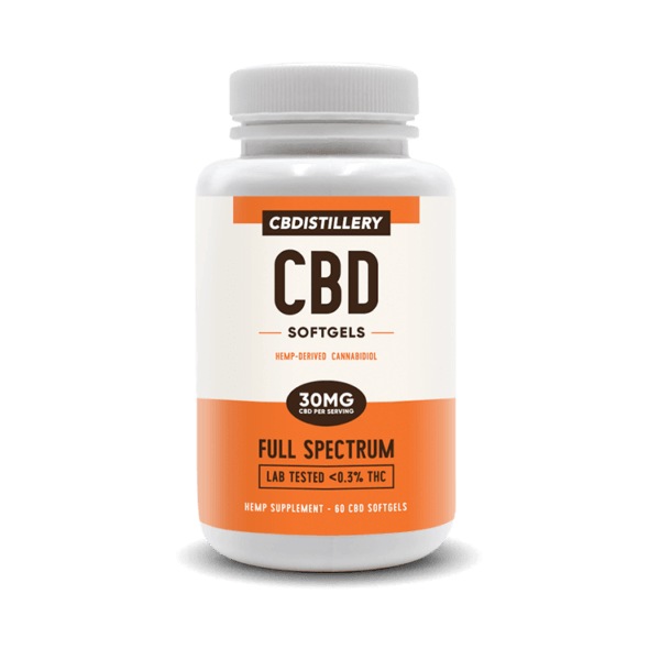 CBDistillery Full Spectrum CBD Softgels Capsules