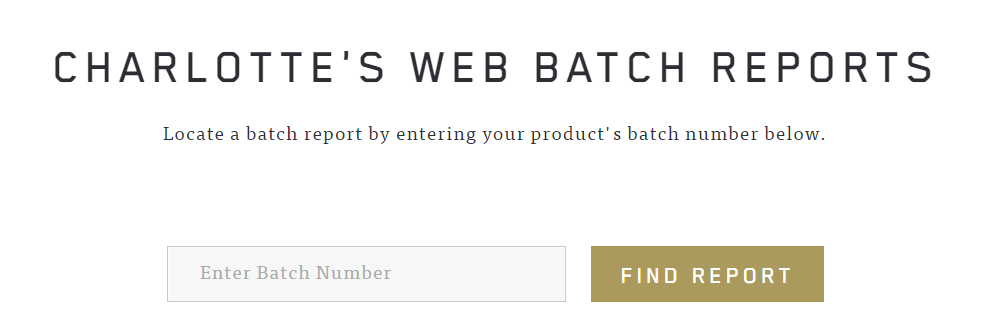 Charlettes Web Batch Report