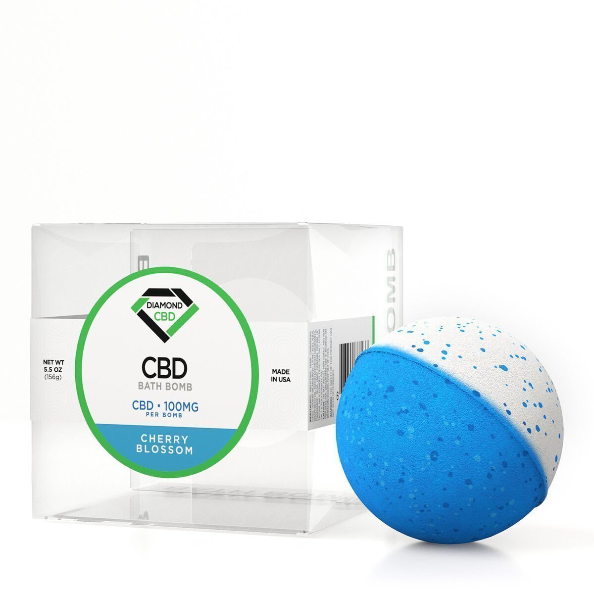 Diamond CBD Bath Bomb Cherry Blossom