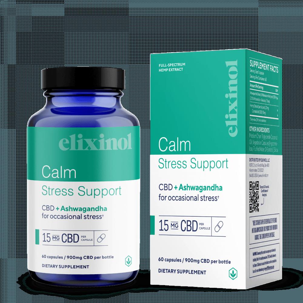 Elixinol Calm Stress Support CBD Capsules
