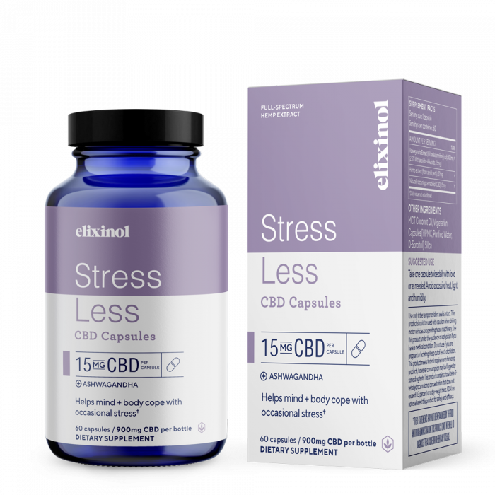 Elixinol Stress Less CBD Capsules