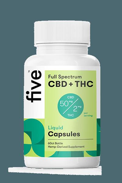 FIVE CBD Full-Spectrum Liquid Capsules