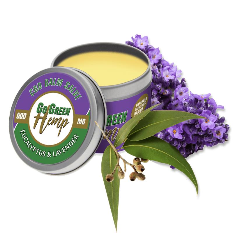 Go Green Hemp CBD Balm Salve Eucalyptus & Lavender