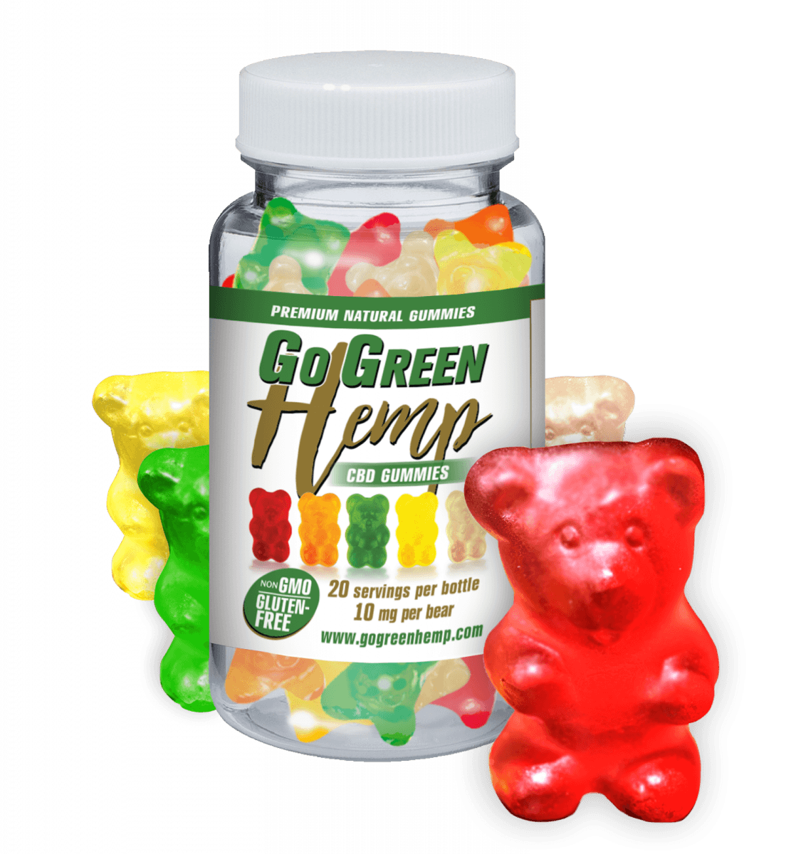 Go Green Hemp CBD Gummy Bears 10mg