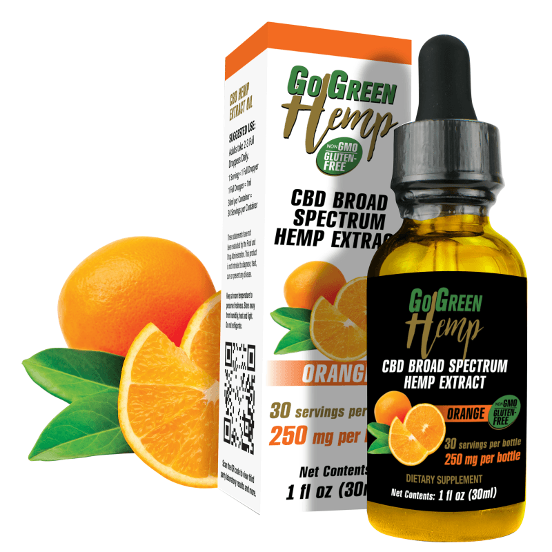 Go Green Hemp CBD Oil Drop Tincture Orange