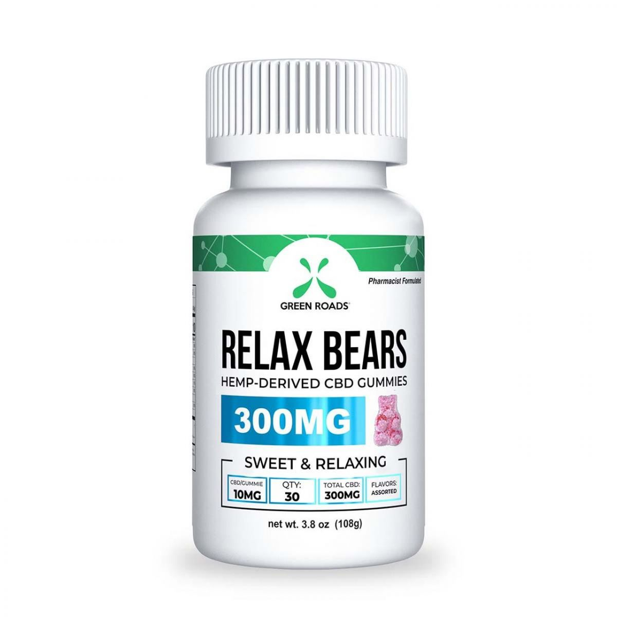 Green Roads 300mg Relax Bears CBD Gummies