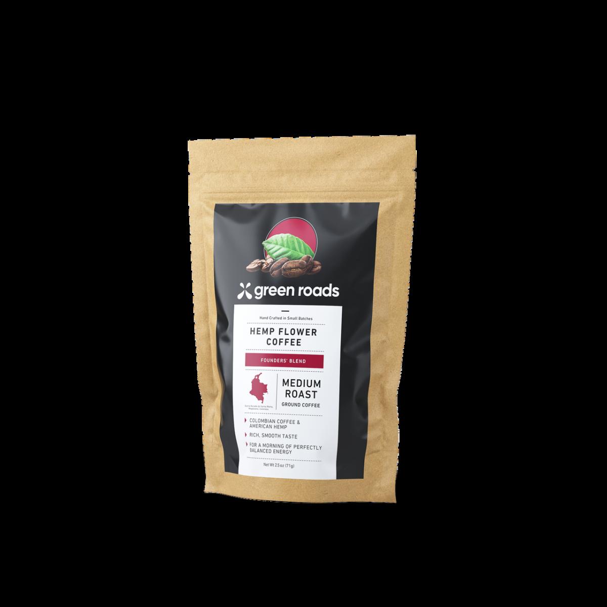 Green Roads Hemp Flower Coffee, Founder's Blend