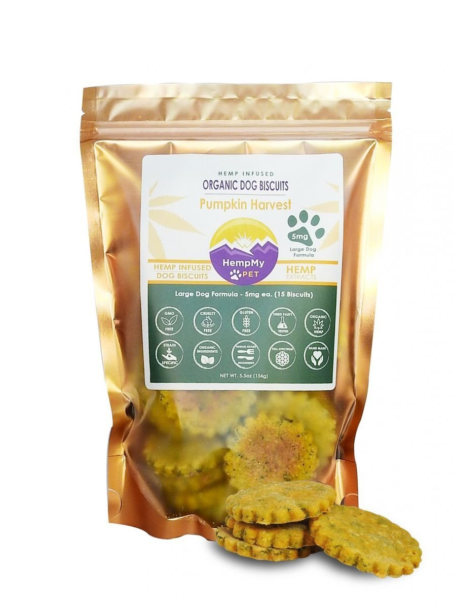 HempMy Pet CBD Dog Treat biscuits