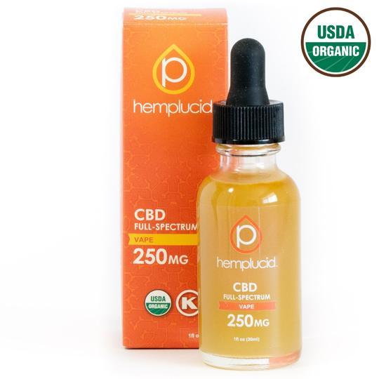 Hemplucid USDA Organic Full-Spectrum CBD Vape Liquid