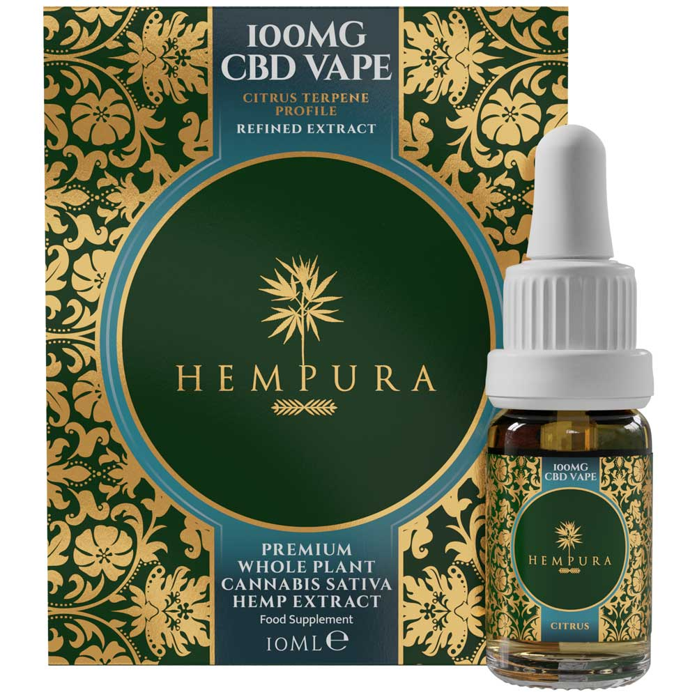 Hempura Broad-Spectrum CBD Vape Liquid