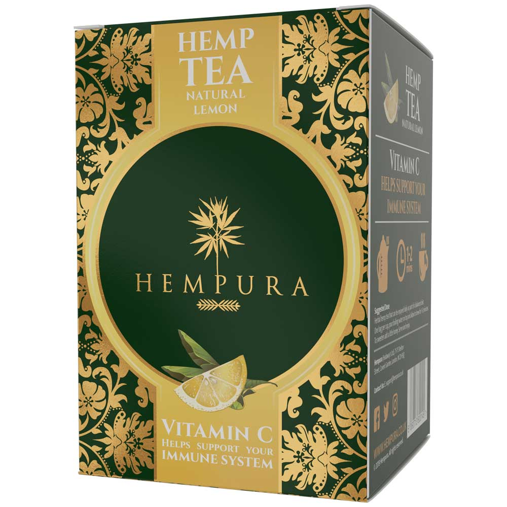 Hempura Hemp Tea Natural Lemon