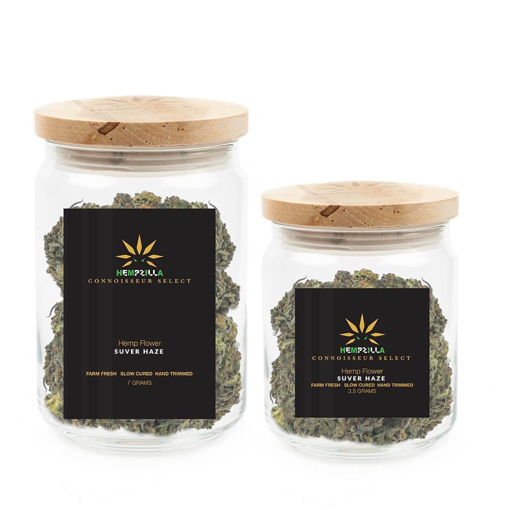 Hempzilla Suver Haze CBD Flower Jar