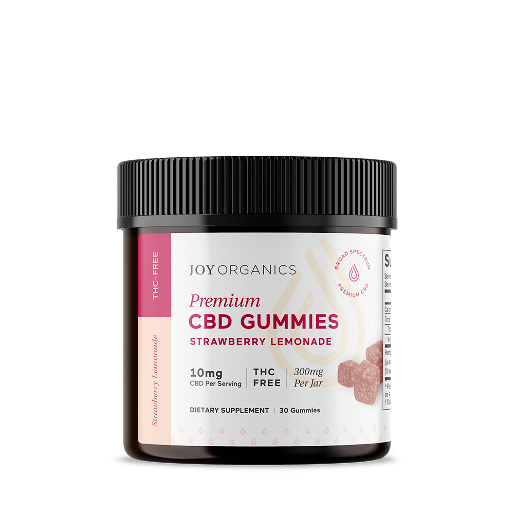 Joy Organics CBD Gummies Strawberry Lemonade