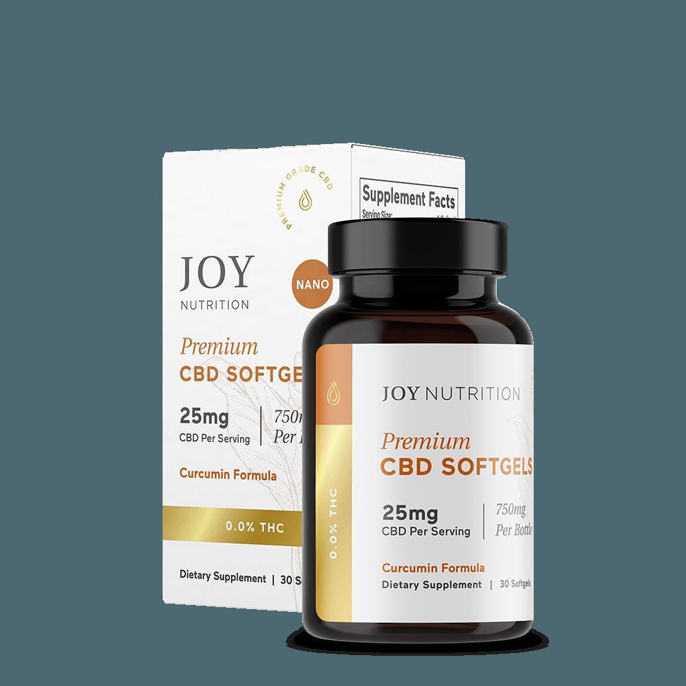 Joy Organics CBD Softgels with Curcumin