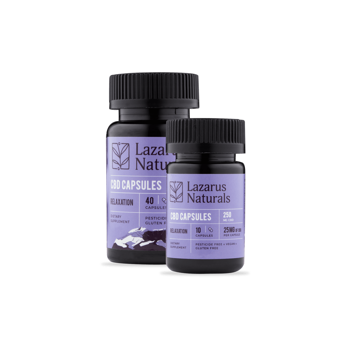 Lazarus Naturals CBD Relaxation Blend Capsules