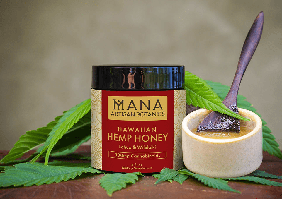 Mana Botanics Hawaiian Hemp Honey Lehua and Wilelaiki 300mg cannabinoids