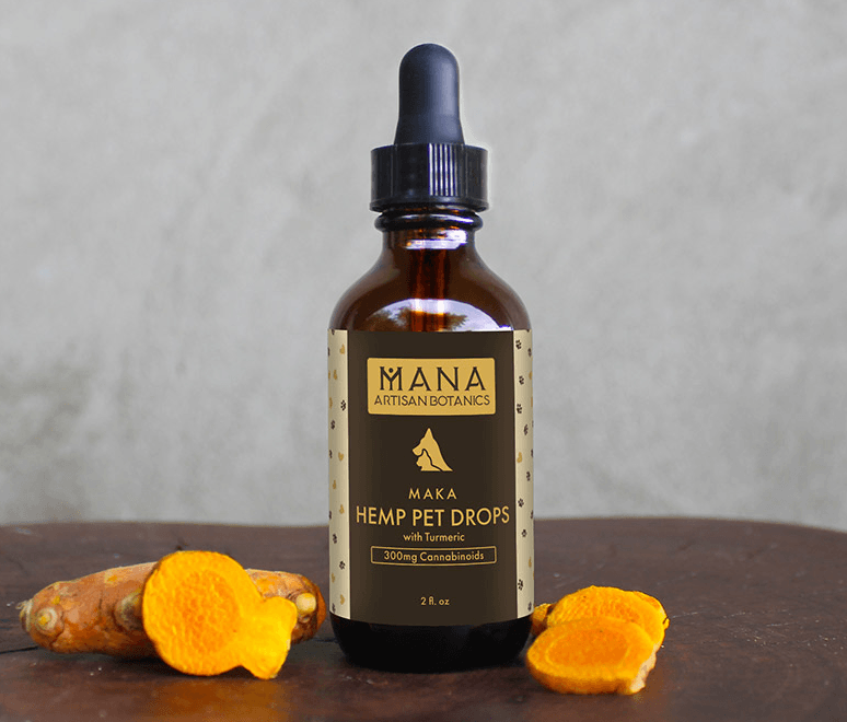 Mana Botanics Hemp Pet Drops with Turmeric