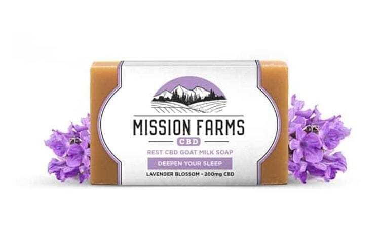 Mission Farms Rest CBD Goat Milk Soap