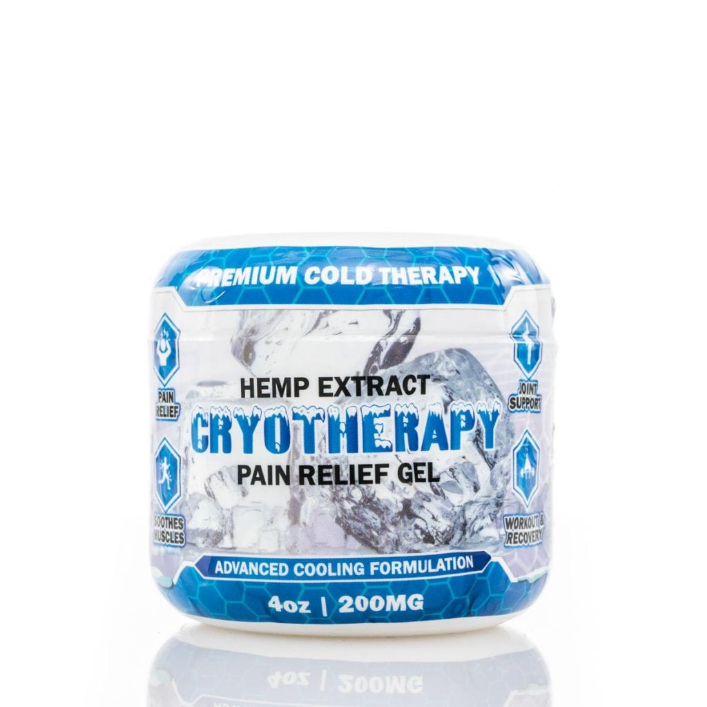 Natures Script Cryotherapy Hemp Extract Pain Relief Gel Advanced Cooling Formulation