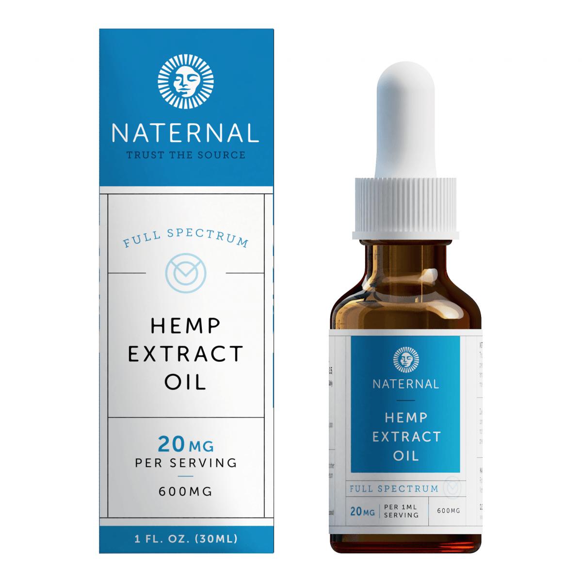 Naternal Full-Spectrum Hemp Extract Oil