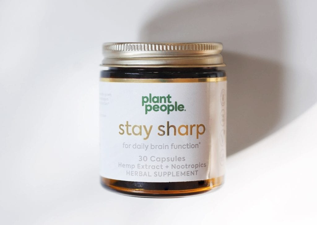 Plant People CBD Capsules Stay Sharp