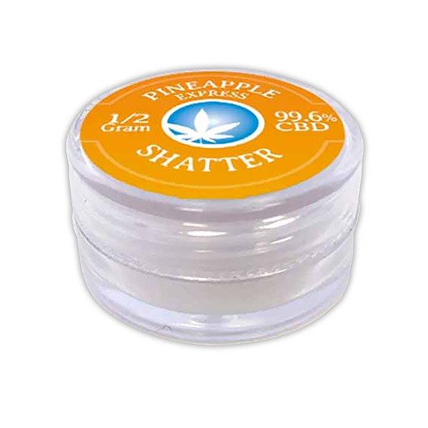 Pure CBD Vapor Blue Moon Hemp Pineapple Express CBD Shatter 0.5 gram 498mg