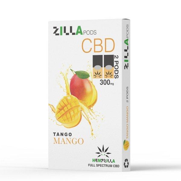 Pure CBD Vapor Hempzilla CBD Juul Compatible Pods 300mg 2-pack Tango Mango