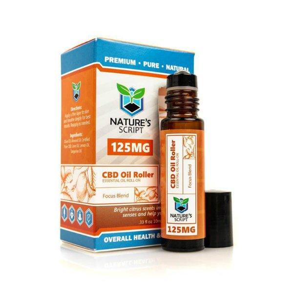 Pure CBD Vapor Nature's Script CBD Essential Oil Roller Focus Blend