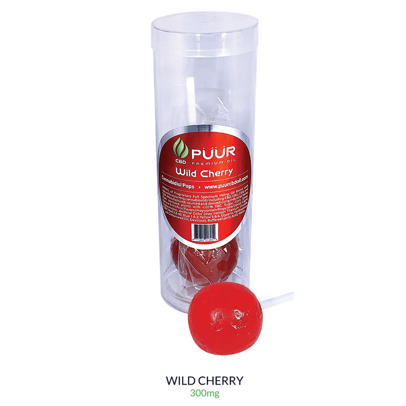 Puur CBD Lollipops 300mg Wild Cherry