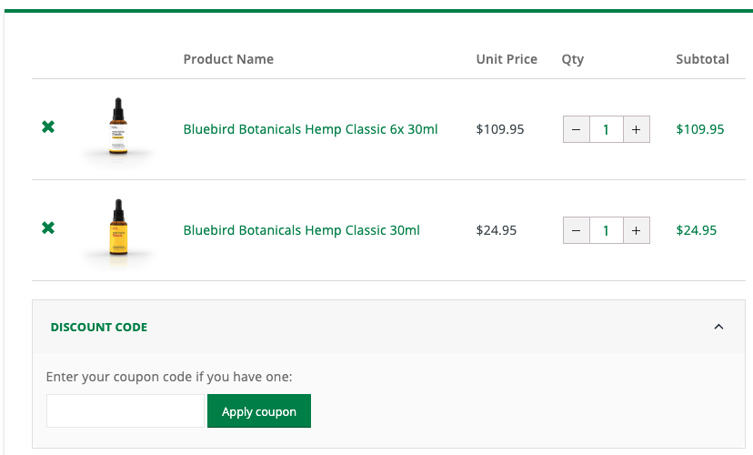 Bluebird Botanicals Coupon