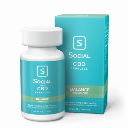 Social CBD Balance Gel Caps