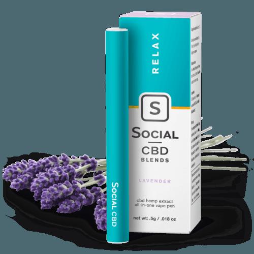 Social CBD Lavender Vape Pen