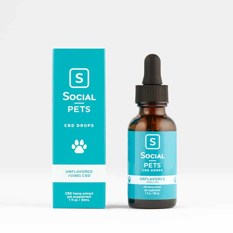 Social CBD Pets Unflavored Broad Spectrum Drops