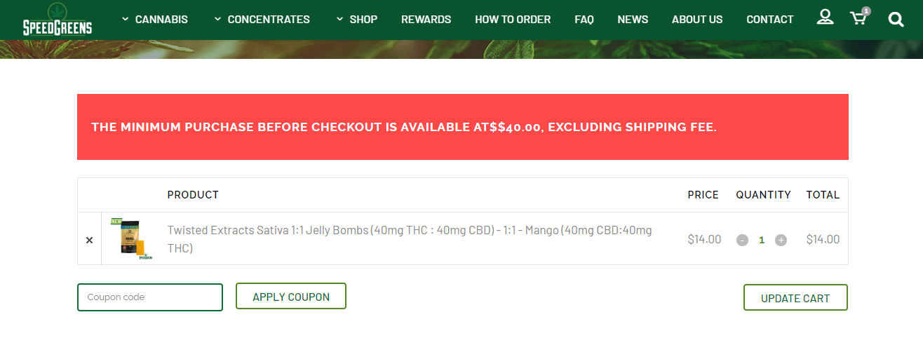Speed Greens Coupon Code