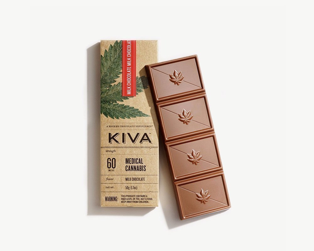 Splitbud Kiva Milk chocolate cannabis bar