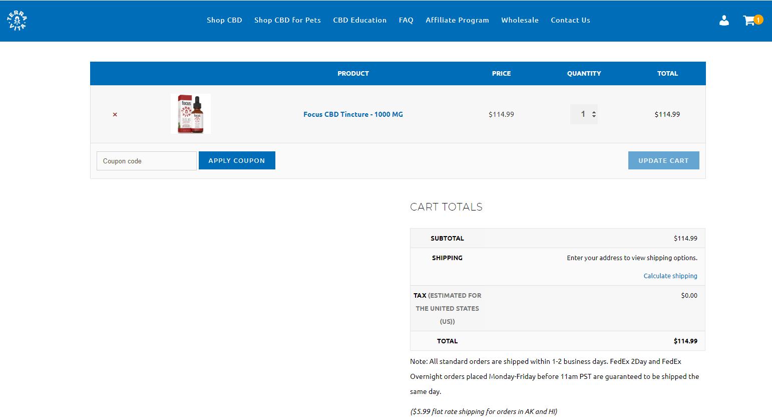 TerraVita CBD online coupon code
