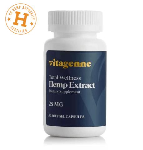 Vitagenne Total Wellness Full Spectrum Hemp Extract Softgels