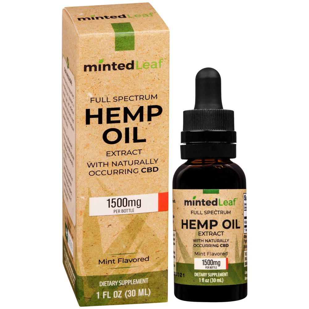 mintedLeaf CBD Full-Spectrum Hemp Oil 1500mg Mint
